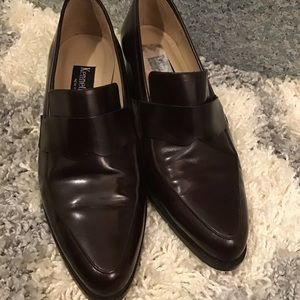 Kenneth Cole Chocolate Brown Leather Loafers